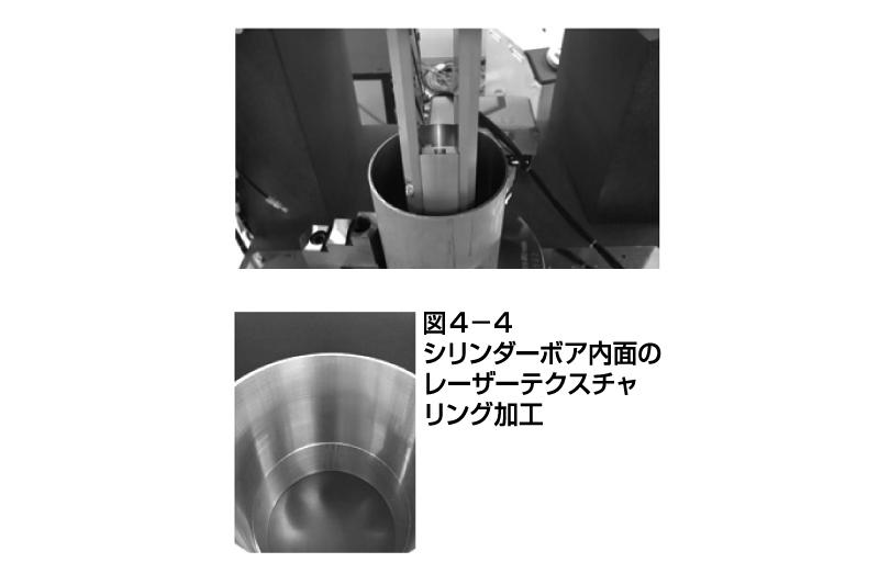 図4-4 シリンダーボア内面のレーザーテクスチャリング加工