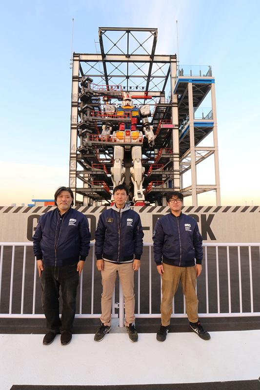 プロジェクト中心の(左から)川原D、石井D、吉崎D